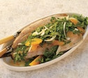 Image of Cedar-Planked Trout with Arugula, Fennel, and Orange